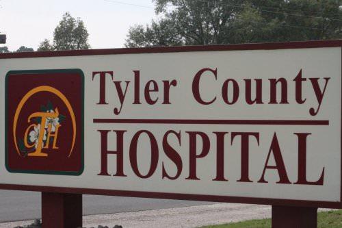 Tyler County Hospital Sign
