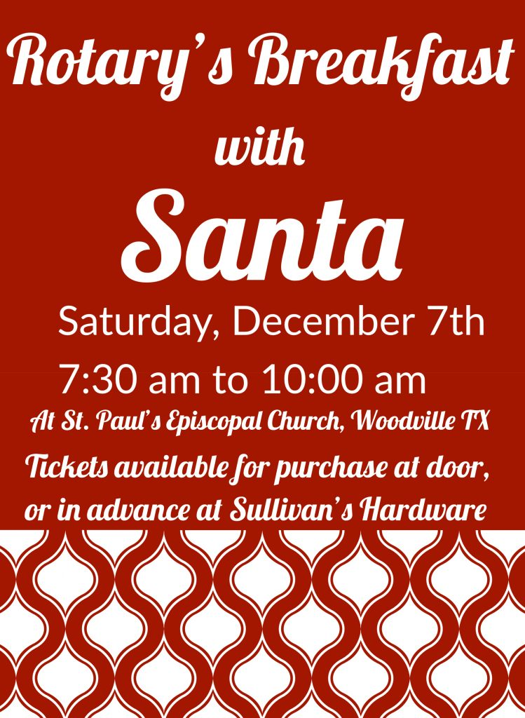 Woodville Rotary Club's Breakfast with Santa 2